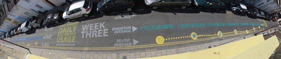 Gráfica en la calle de Brighton