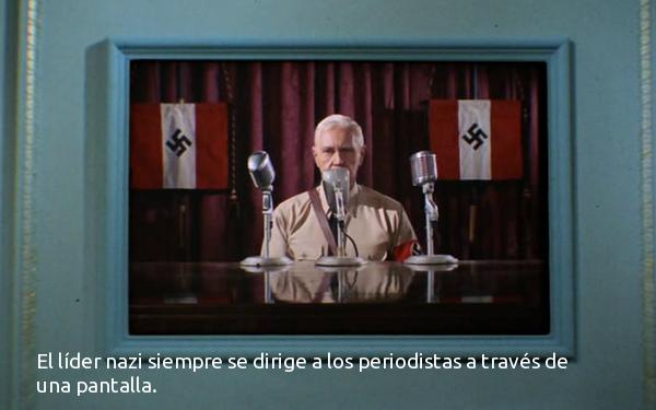 El líder nazi y la telepantalla