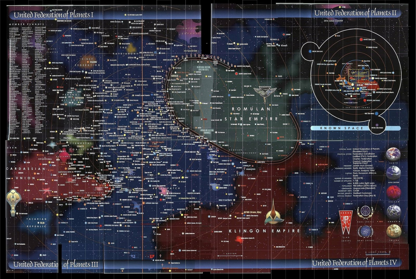 Mapa Federación de Star Trek