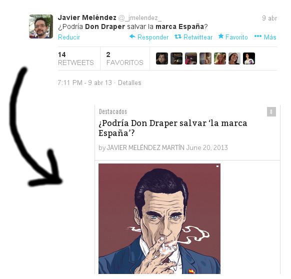 Don Draper del tuit al post