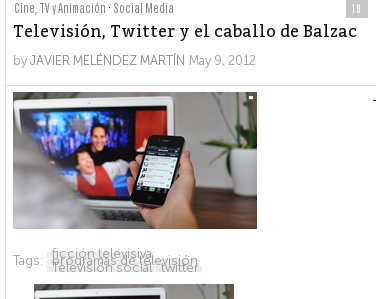 Televisión y el caballo de Balzac