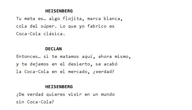 Walter White y la Coca-Cola
