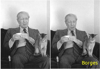Borges y su gato