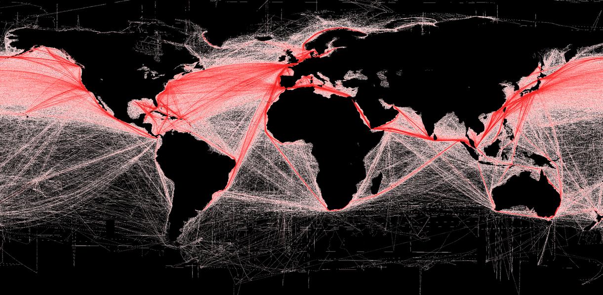 Mapa de rutas marítimas (Wikipedia)