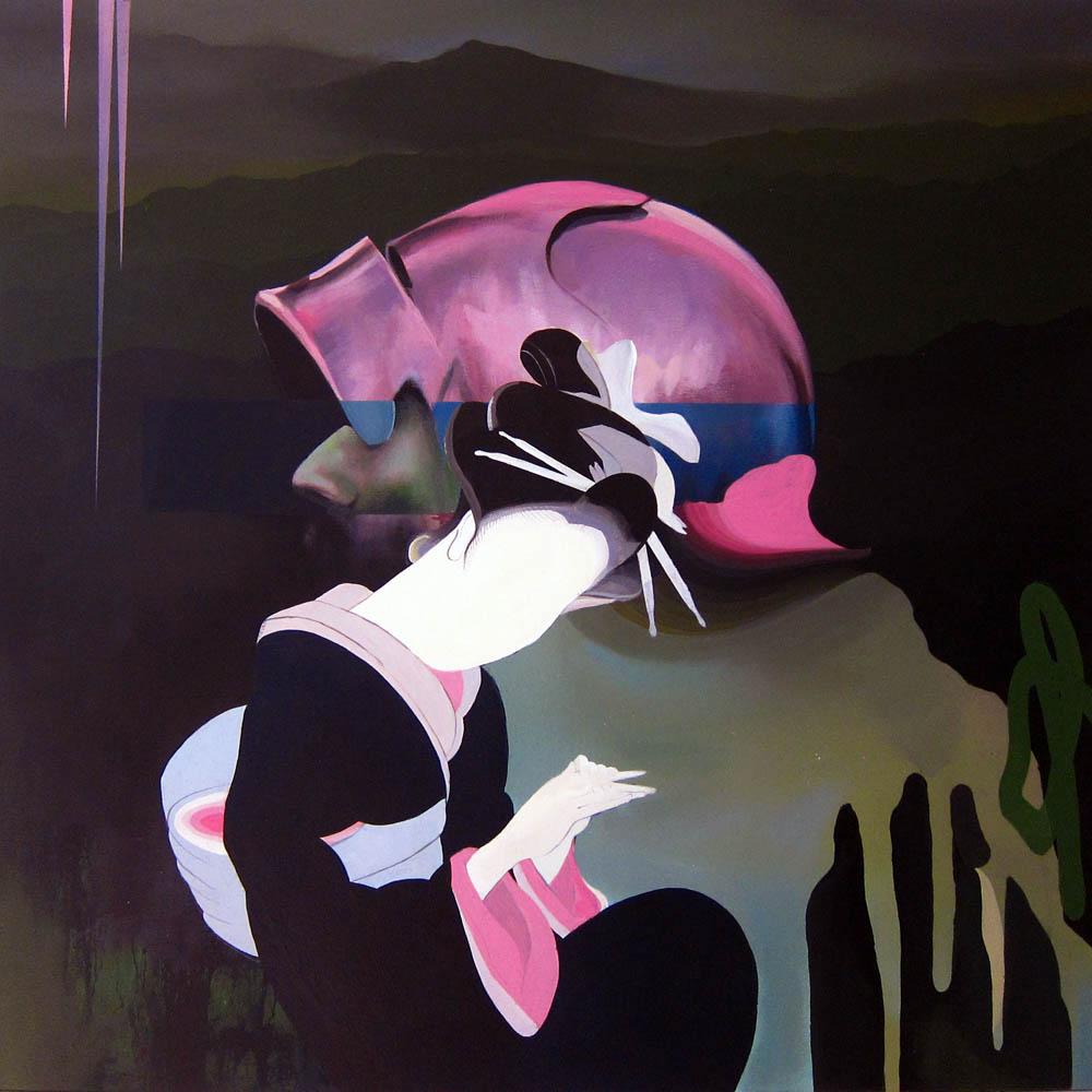 Unknown. acrílico sobre lienzo 70x70 cm.