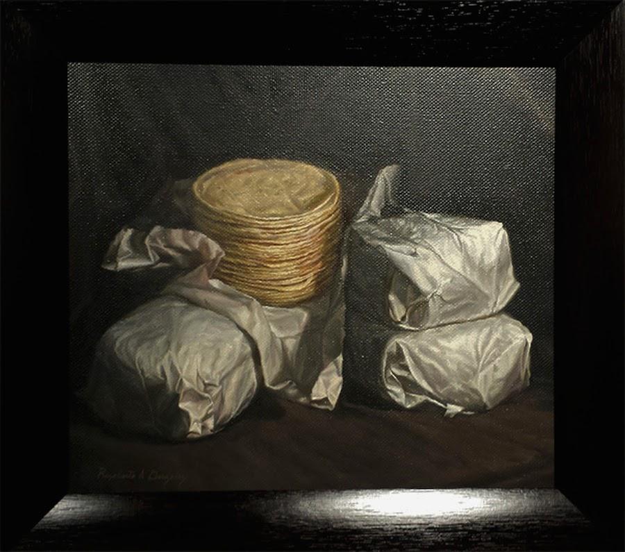 tortillas oil on linen 24 x 28 $ 1,600