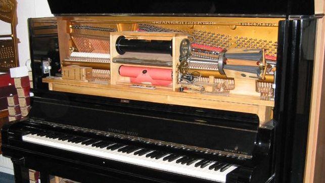 Imagen de una pianola reproductora de marca Welte-Mignon-Steinway / Karlkunde