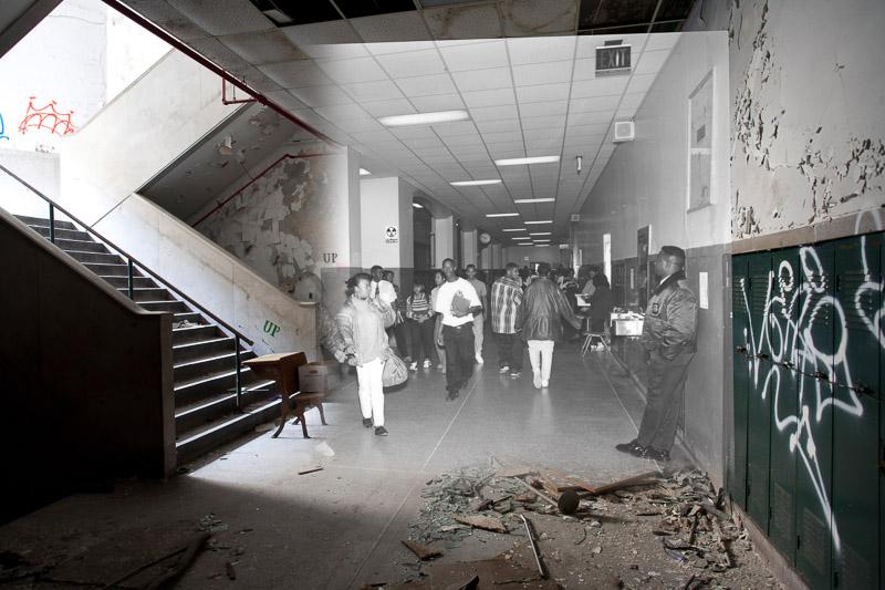 Second floor hallway.