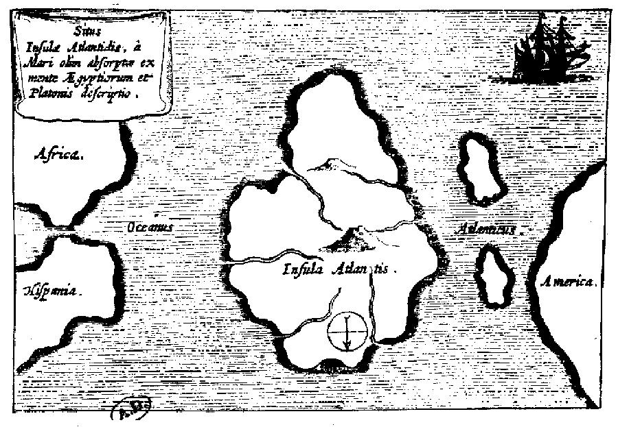 Mapa de la Atlántida. 1667