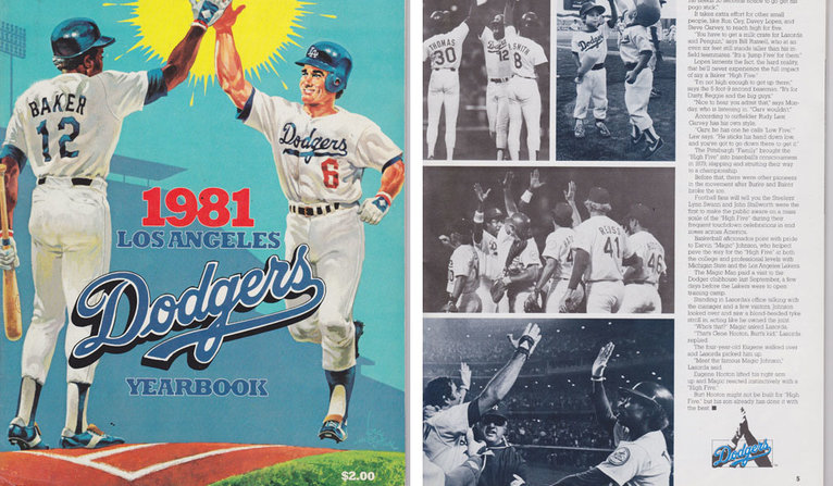 Dodgers Yearbook copy