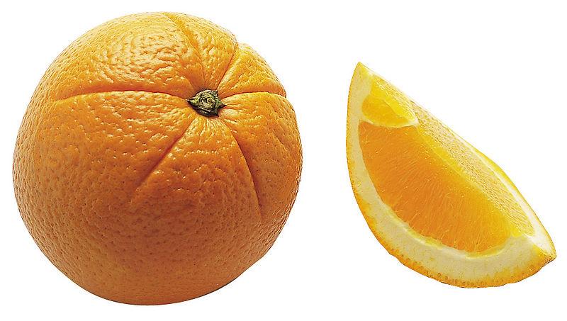 Naranja y gajo