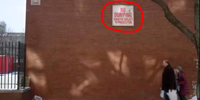 Apretón - Prohibido arrojar basura