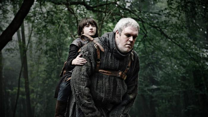 Bran a la espalda de Hodor