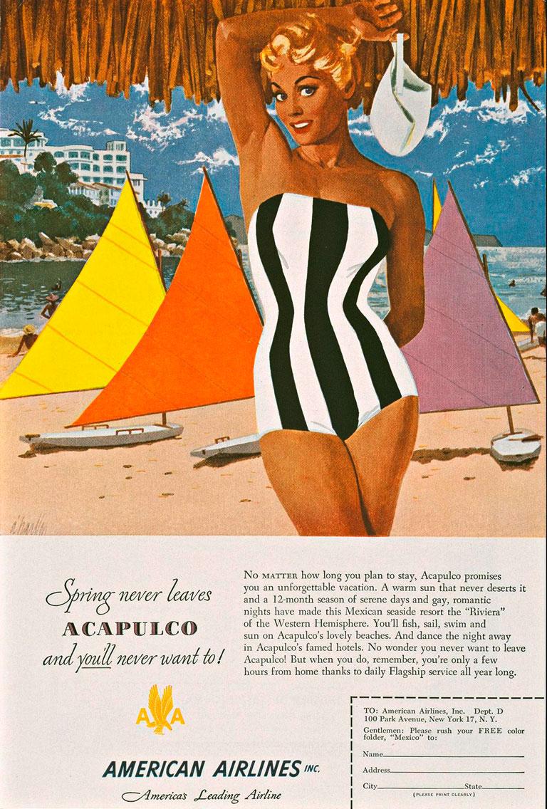 carteles que mostraban volar en los años 50