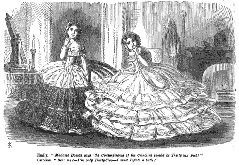 17_January_1857_inflatable_crinolines_Punch