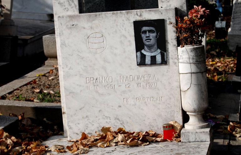 Branko Nadoveza, jugador del Partizan que murió en un accidente de coche en 1970 con solo 20 años