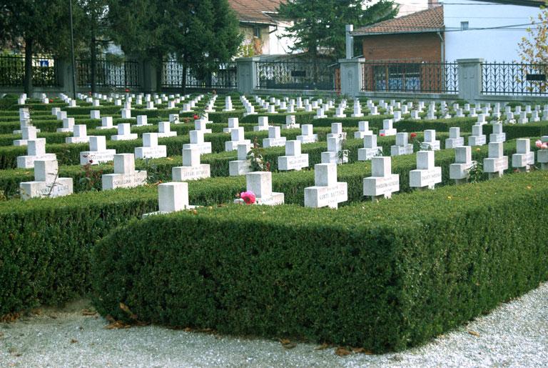 Cementerio de los soldados italianos muertos en la I Guerra Mundial en Yugoslavia