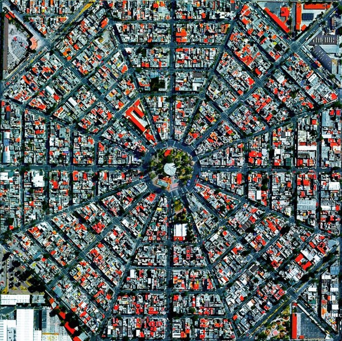 Plaza Del Ejecutivo en el distrito Venustiano Carranza del DF, en México.