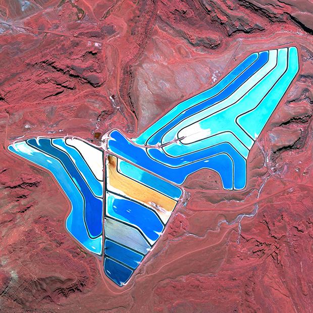 Minas de cloruro de potasio en Moab, Utah (EE UU).