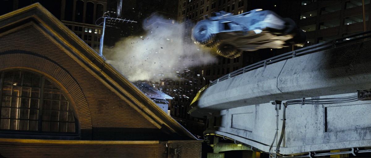 Batmóvil tejado Batman begins 2