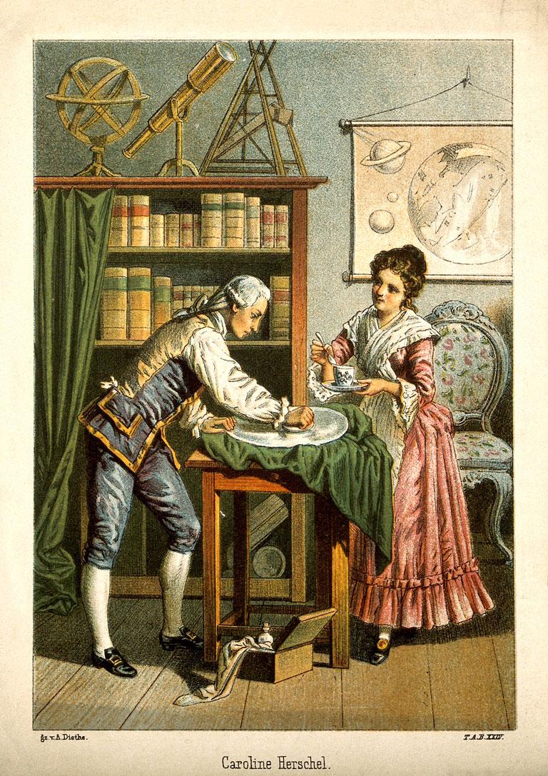 Sir William Herschel and Caroline Herschel