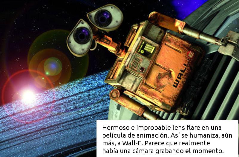 WALL E Lens flare