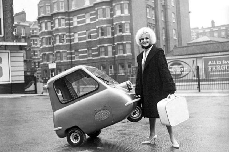 El Peel P50, británico. El más micro de todos los microcoches