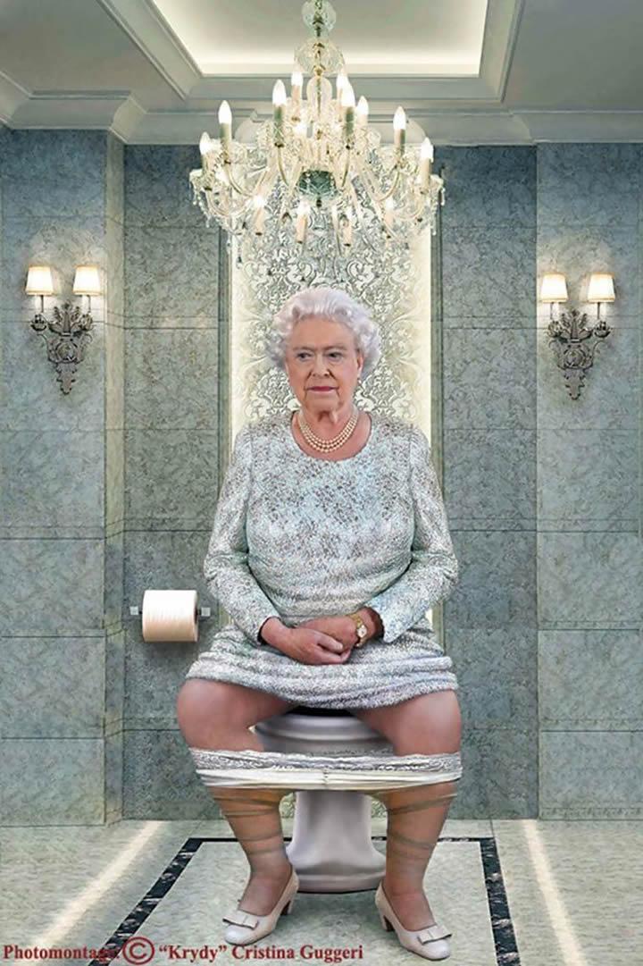 Isabel II en pleno oficio real, de Cristina Guggeri