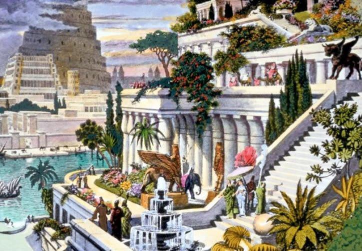 Jardines colgantes de Babilonia por Martin Heemskerck