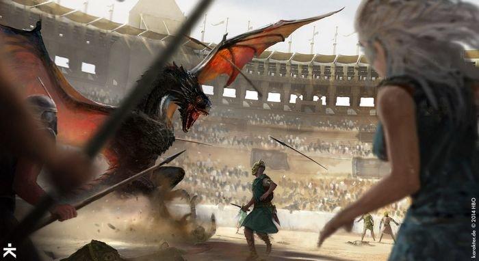 Karakter - Dragón en la arena 03