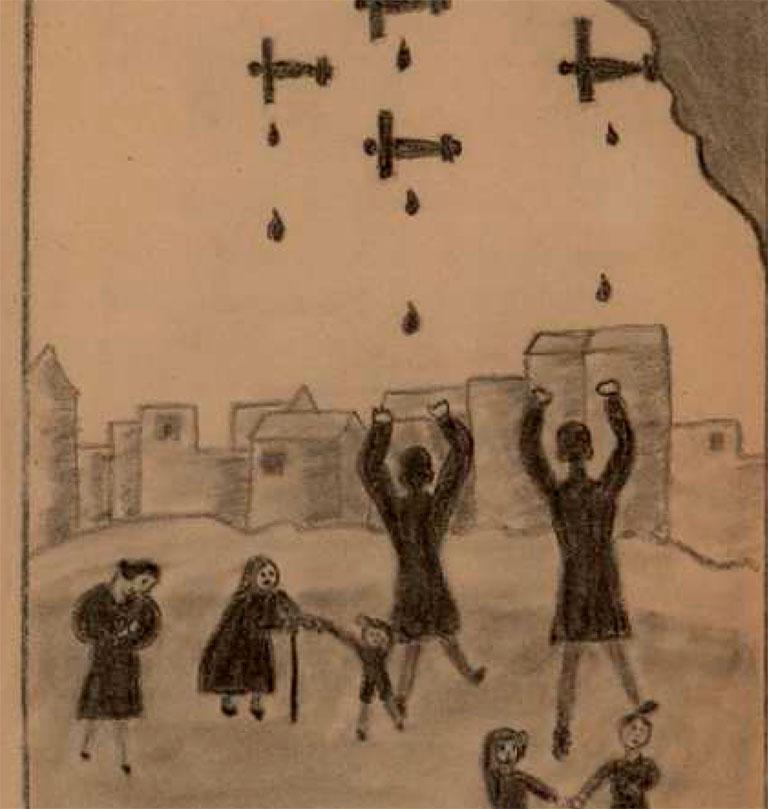 dibujos niños guerra