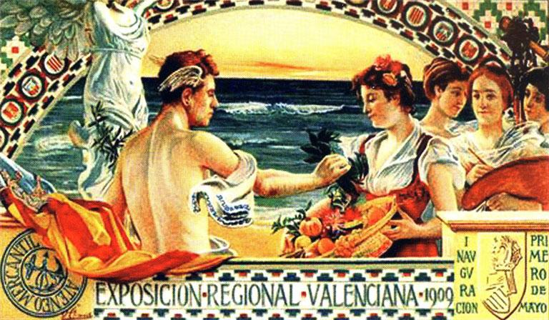 Cartel del pintor valenciano Vicente Climent para la Exposición Regional Valenciana de 1909