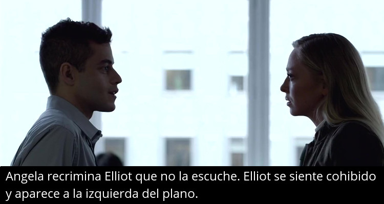 Mr. Robot - Elliot regañado por no escuchar