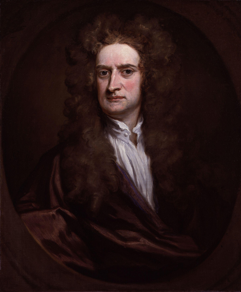 Sir Isaac Newton (1642-1727) by Sir Godfrey Kneller, Bt