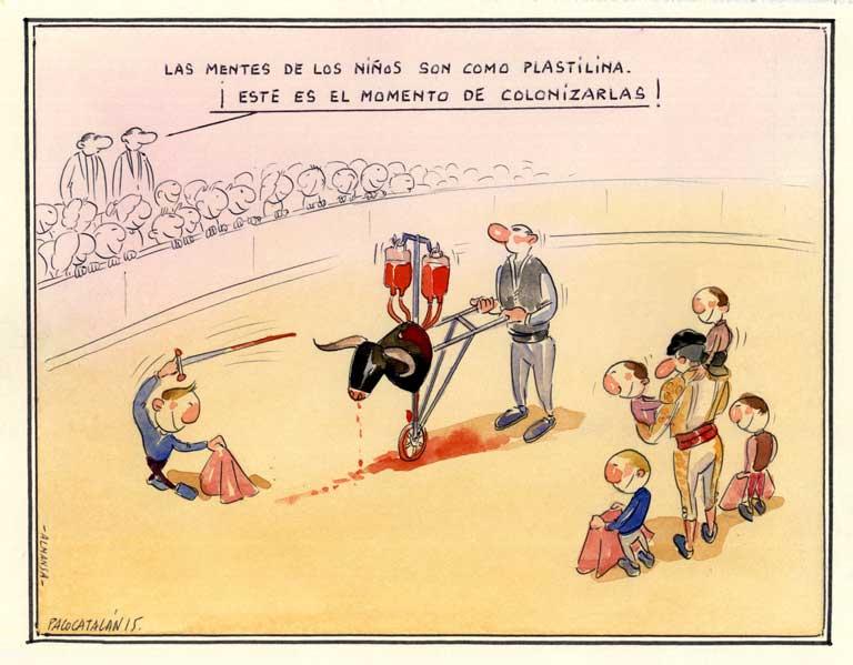 Paco Catalán. Las mentes de los niños. Exposición 'Otras tauromaquias. En el 200 aniversario de la Tauromaquia de Goya'