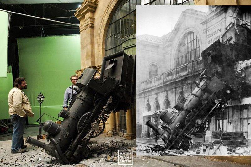 La invención de Hugo y la caída del tren