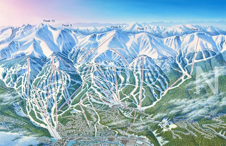 Las mejores estaciones de esquí están pintadas por James Niehues breckenridgesiteimage