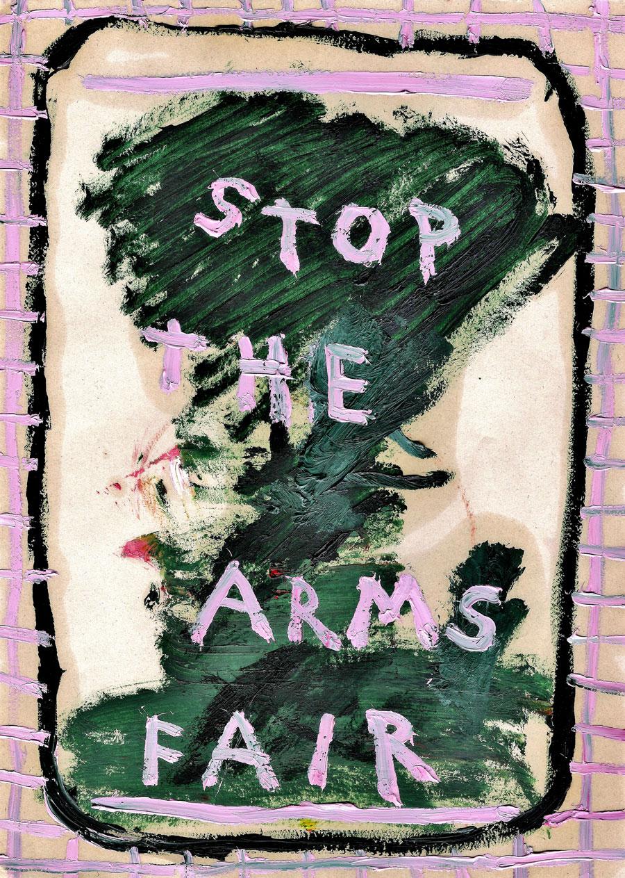 daisy-parris-stop-the-arms-fair-oil-paint-on-paper-2017
