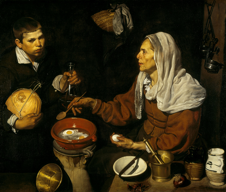 'Vieja friendo huevos', de Velázquez. National Galleries of Scotland. (1618)