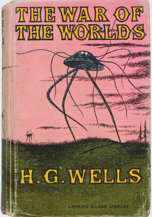 the-war-of-the-worlds-wells-h-g-gorey-edward-illustrator-published-by-looking-glass-libraryrandom-house-new-york-1960