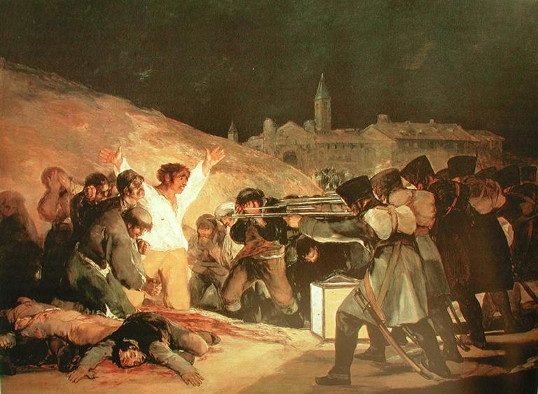 'Los fusilamientos del 3 de mayo', Francisco de Goya