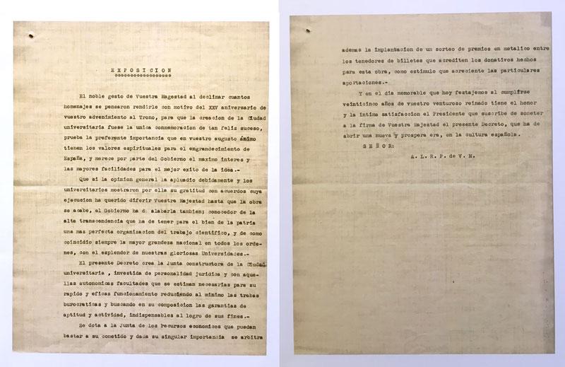 Proyecto de Real Decreto-ley de creación de la Junta Constructora. 17 de mayo de 1927