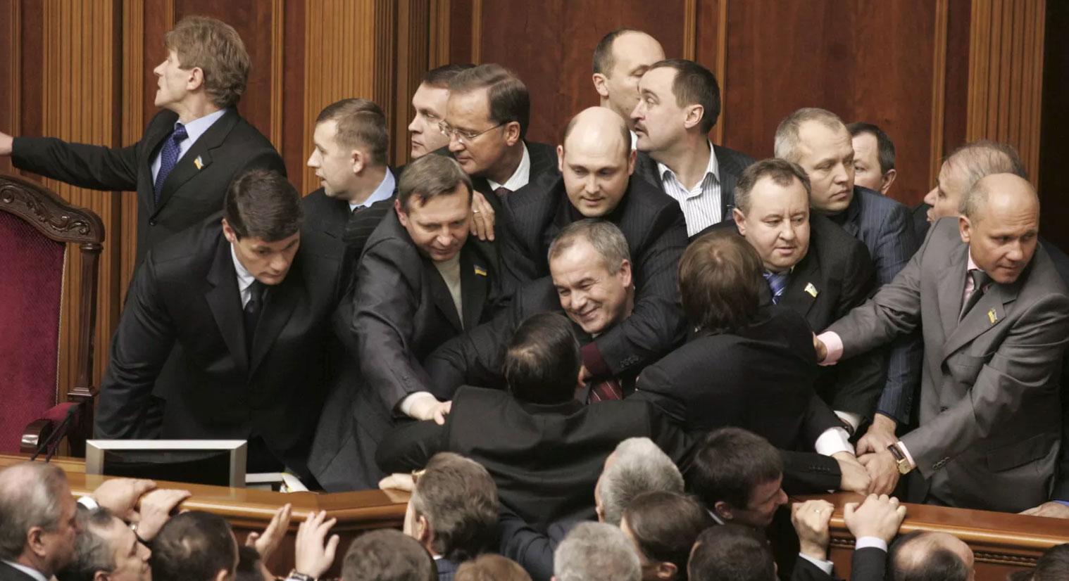 Diputados en Kiev, 2008. (Foto: Konstantin Chernichkin / Reuters)