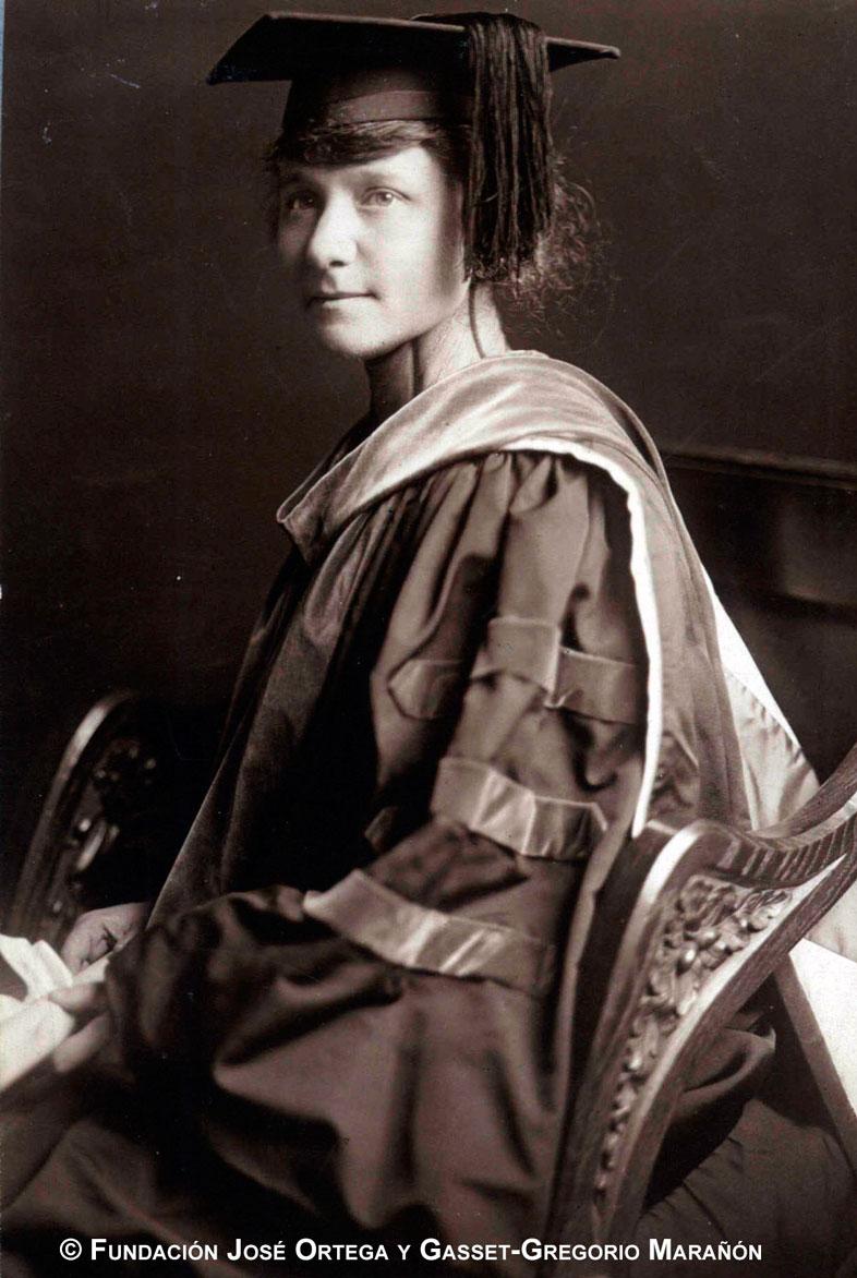 María de Maeztu, doctora Honoris Causa. (Archivo de José Ortega y Gasset. Fundación José Ortega y Gasset-Gregorio Marañón)