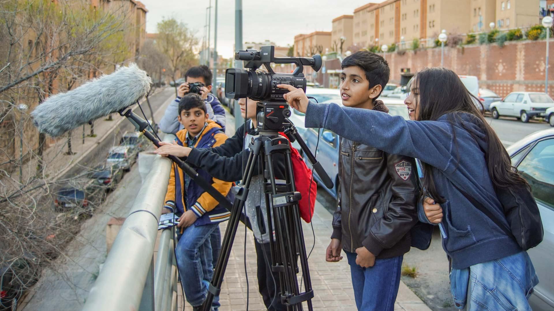 Alumnos del Institut Escola Trinitat Nova de Barcelona