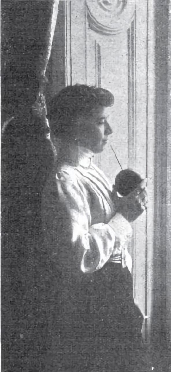 Gloria Laguna. Fotografía publicada en la revista 'Caras y caretas', el 10 de agosto de 1907