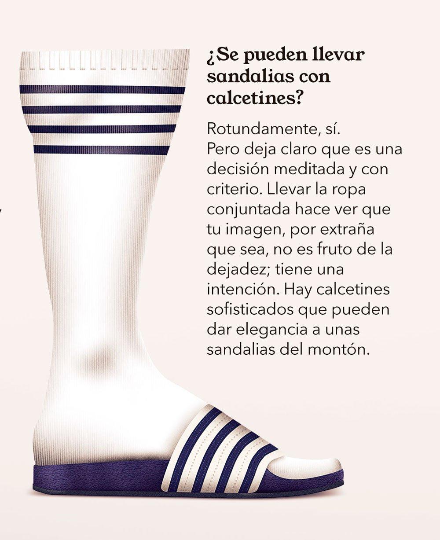 cómo vestir calcetines