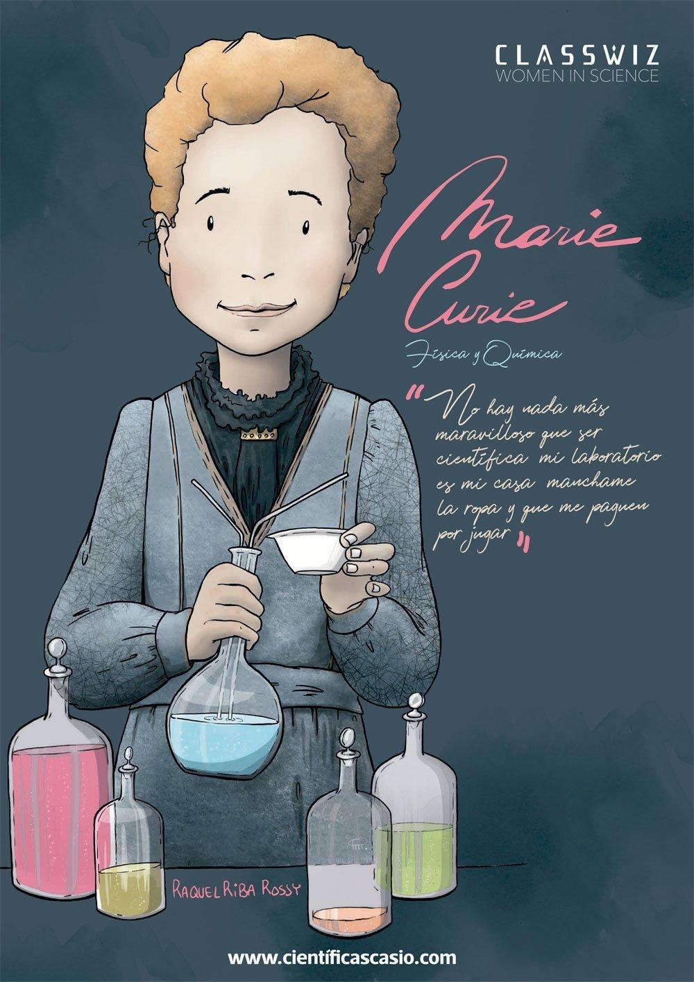 Marie Curie cientificas casio