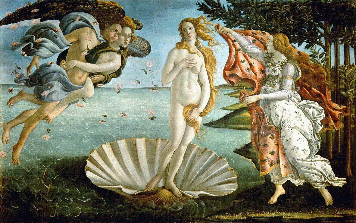 Sandro Botticelli - El nacimiento de Venus