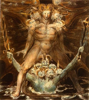 William Blake, The Great Red Dragon and the Beast from the Sea, National Gallery http://commons.wikimedia.org/wiki/File:Blakebeast1bg.jpg